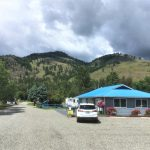 Kettle River RV Park entrance, parking and office